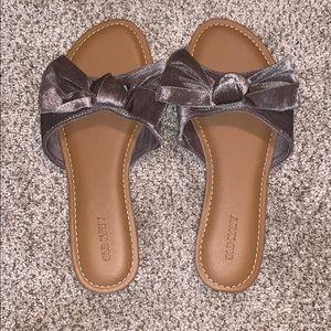 Velvet Bow Slides/Sandals